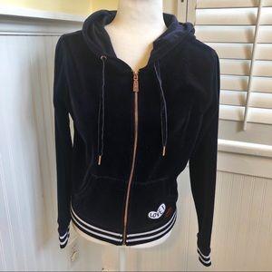 Betsey Johnson Navy Full-Zip Track Jacket Medium